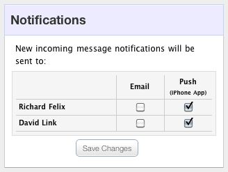 Multiple user notifications